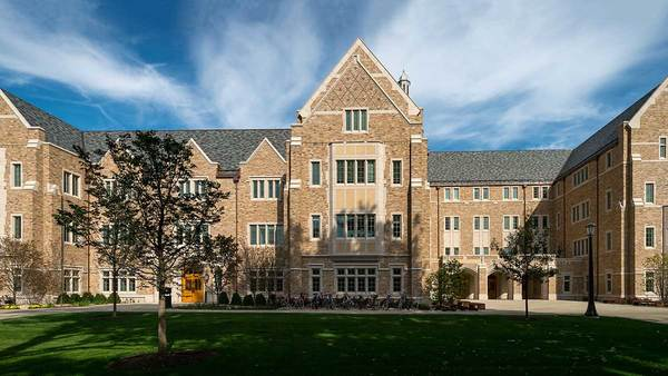 Jenkins and Nanovic Halls earn LEED Silver certification