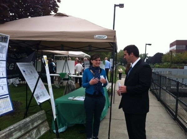 Marjorie Massel explains her research at the City of South Bend's Green Energy Day 2012